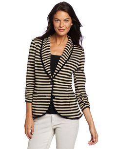 Karen Kane Womens Shawl Collar Jacket, Print, X-Small