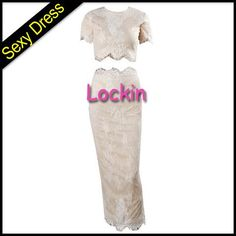 2015 New Sexy Embroidery Lace Mesh Two Piece Dress Gauze Siting White Sexy Bodybon Dress Club Party Dress from Lockin,$18.85 | DHgate.com