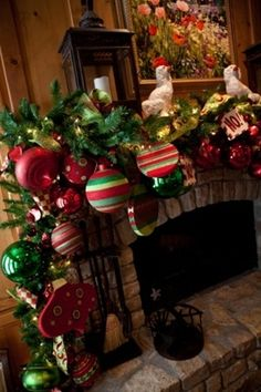 How to decorate a mantel - Click image to find more Holidays & Events Pinterest pins