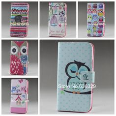 New Flower Holder Wallet Flip Pouch Painted Magnetic Card Leather Case Cover For Samsung Galaxy Ace 2 GT i8160 Bird Cover