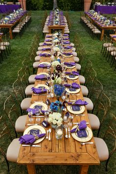 Farm table settings for dinner at the Hallmark Channel Summer 2015 TCA's