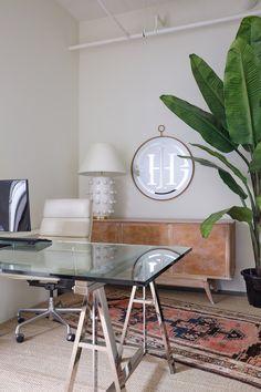 The Calgary Offices of Reena Sotropa Design Group | Rue Interior Design Business, Interior Design Studio, Home Office Design, Home Office Decor, Interior Design Inspiration, Home Decor, Open Ceiling, Garden Doors, Floor Finishes