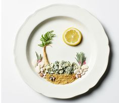 Andrea Bricco plays with her food.