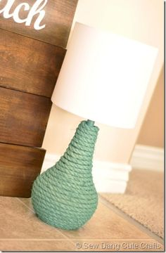 DIY... Wrap rope and spray paint any color. We have lamps with a variety of shapes that would be great for this project.