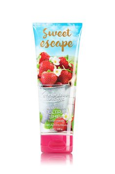 Signature Collection Strawberry Picnic Body Cream - Bath And Body Works Best Lotion, Hand Lotion, Bath N Body Works, Body Wash, Perfume Body Spray, Ultra Shea Body Cream, Body Lotions, Luxury Beauty, Smell Good