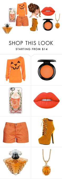 """Pumpkin Patch"" by cabre8500 on Polyvore featuring MAC Cosmetics, Casetify, Lime Crime, Barbour, Bonnibel and Lancôme"