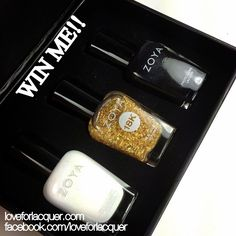 Give-a-way of LE Zoya 18K Gilty Trio! No longer available for sale - this is a collectors set!