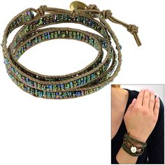Sasa Sea of Green Wrap Bracelet at The Hunger Site