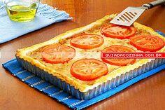 Receita de Torta de cebola e tomate