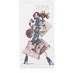 Henri Bendel 2016 Shopping Girl Pocket Journal ($48) ❤ liked on Polyvore featuring home, home decor and stationery