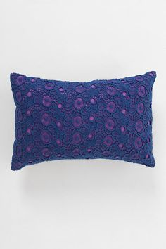 Plum & Bow Contrast Lace Pillow #urbanoutfitters