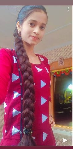 Beautiful Braids, Beautiful Long Hair, Gorgeous Hair, Indian Hairstyles, Girl Hairstyles, Braided Hairstyles, Braids For Long Hair, Hair Plaits, Bun Hair