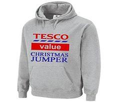 Christmas Jumper Hoodie Sweater Mens Unisex TESCO Value Xmas christmas Sweatshirt