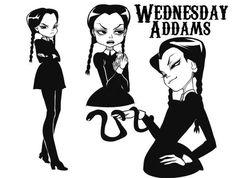Midas is king and he holds me so tight Dark Art Drawings, Cute Drawings, Charles Addams, Tim Burton Characters, Morticia Addams, Adams Family, Wednesday Addams, Creepy Art, Cartoon Movies