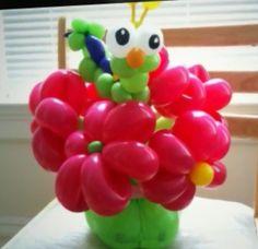 Floral balloon art #balloonflowerbouqet