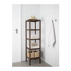 IKEA - MOLGER, Shelving unit, dark brown, , The open shelves give a clear overview and easy access.