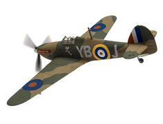 The Corgi 1/72 Hawker Hurricane Mk.1 N2359/YB-J, 'Winged Popeye', P.O Leonard Walter Stevens, RAF No.17 Squadron, Debden 1940 is a diecast model plane in the Corgi Aviation Archive range.  Responsible for destroying more enemy aircraft during the Battle of Britain than the combined total of the rest of Britain's defences, the Hawker Hurricane was the workhorse aircraft of Fighter Command's defiant resistance against the Luftwaffe.