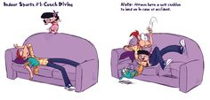 Couch Diving by KicsterAsh on DeviantArt