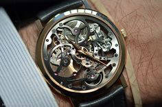 "Piaget Altiplano Skeleton in rose gold reminds me of the Rosicrucian clocks in the premiere episode of ""Zero Hour."""