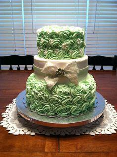 Caroline's Bridal Shower Cake - by PamIAm @ CakesDecor.com - cake decorating website