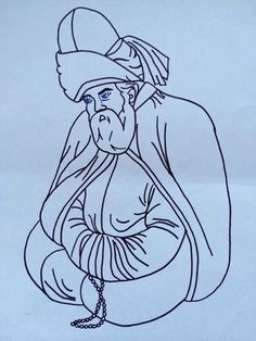 Mevlana Prayer Tattoo, Stencils, Oki Doki, Islamic Art Calligraphy, Old Paintings, Useful Life Hacks, Sufi, Pyrography, Art Sketches