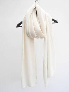 Sjaal SjaalMania Cosy Creamy White