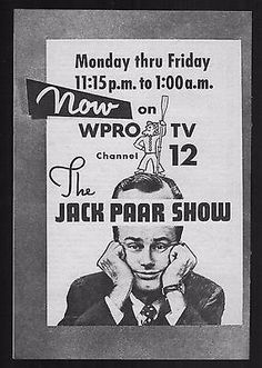 1958-WPRO-TV-GUIDE-AD-JACK-PAAR-SHOW-PROVINDENCE-RHODE-ISLAND-FULL-PAGE-PROMO