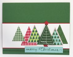 Stampin' Up! Christmas Quilt, Quilt Builder Framelits Cardstock: garden green, real red, pool party, quilted Christmas designer series paper, whisper white Ink: garden green, real red, lemon lime twist, pool party Accessories: stitched felt embellishments,
