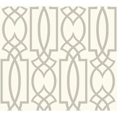 Carey Lind Watercolors White And Grey Large Lattice Wallpaper York Wallcoverings…