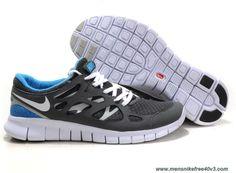 Cool Grey White Black Varsity Royal Nike Free Run 2 Size 12 443815-108 Online