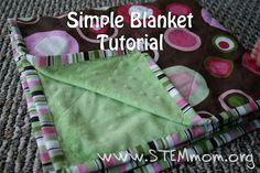 Simple blanket tutorial using minky fabric. Easy, great beginner project!