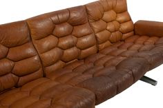 Mid-Century Leather Sofa | From a unique collection of antique and modern sofas at http://www.1stdibs.com/furniture/seating/sofas/
