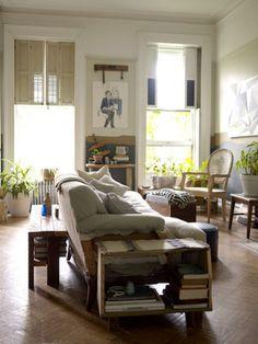 tall windows, plants, 60s parquet floor ... beautiful