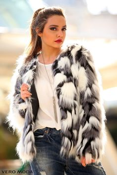 Casual Fur #veromodame #winter #fashion #outfit #style