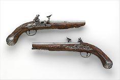 1700 Italian (Brescia) Snaphauce pistols at the Metropolitan Museum of Art, New York