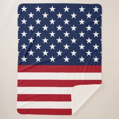 America Sherpa Blanket - independence day 4th of july holiday usa patriot fourth of july