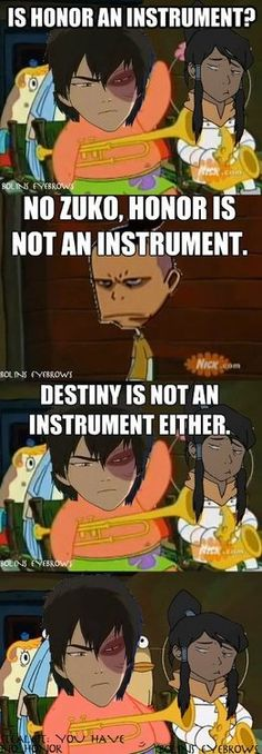 Why are Korra and Zuko in the same music class. Better yet, does Zuko still play the tsungi horn?