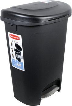 Step On Plastic Trash Can 13 Gal Rubbermaid Kitchen Waste Basket Garbage Bin Garbage Waste, Garbage Can, Home Depot, Walmart Kitchen, Buy Kitchen, Kitchen Ideas, Kitchen Black, Outdoor Trash Cans, Kitchen Trash Cans
