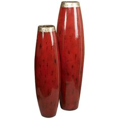 Intercule Home Myalyn Vases - Crimson 258073
