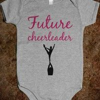 future cheerleader baby one-piece! My child will have this!