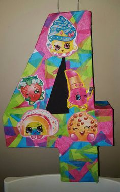 Items similar to Number pinata inspired by shopkins on Etsy Shopkins party idea. Items similar to Number pinata inspired by shopkins on Etsy Shopkins party ideas Fete Shopkins, Shopkins Bday, Shopkins Pinata, 6th Birthday Parties, 8th Birthday, Birthday Ideas, Birthday Cake, Party Time, Party Ideas