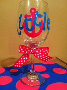 decorated wine glasses