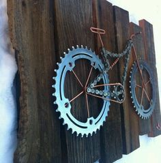 "Receive excellent ideas on ""metal tree art projects"". They are actually on call for you on our web site. Bicycle Parts Art, Recycled Bike Parts, Bicycle Art, Bicycle Design, Bicycle Stand, Wooden Bicycle, Retro Bicycle, Bicycle Painting, Bicycle Wheel"
