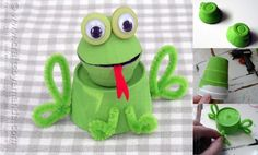 The Egg Carton Frog is an adorable egg carton craft that will bring you even more cheer than the sun or those eggs. Animal Crafts For Kids, Kids Crafts, Egg Carton Crafts, Pipe Cleaner Crafts, Driftwood Crafts, Family Crafts, Crafty Kids, Wedding Humor, Business For Kids