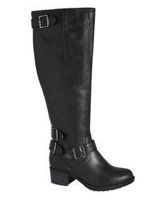 Love this Black Nashville Wide-Calf Boot on #zulily! #zulilyfinds