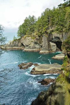 Seascape in Cape Flattery Olympic National Park Washington State