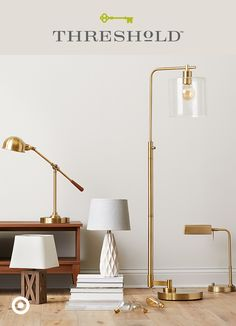 A glowing ambience is the perfect warm welcome for friends and family this fall. Here's a style tip: when choosing lighting for your home, go for a variety of heights, like a mix of floor lamps, task lamps and table lamps, for added aesthetic and function. Threshold, only at Target.
