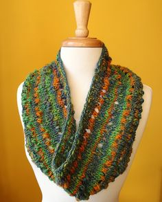 Knit Cowl - maybe try my Lion Amazing yarn?