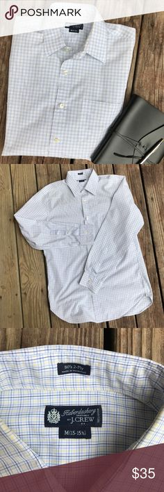🎉HOST PICK🎉 Haberdashery J Crew Long Sleeve White, Navy, Yellow, light blue. Excellent condition. Medium 15-15.5 J. Crew Shirts Casual Button Down Shirts