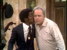 All in the Family One of best scenes in the show!!! Sammy Davis, Jr. kissing Archie Bunker, Carol O'Connor